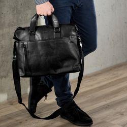 BACCINI Laptoptasche LEANDRO Umhängetasche L Glattleder Aktentasche Businesstasche 5