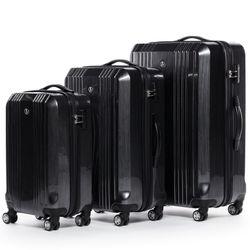 FERGÉ 3er Kofferset CANNES ABS & PC graphite-metallic 3er Hartschalenkoffer Roll-Koffer 4 Rollen Kofferset Hartschale 3-teilig 2