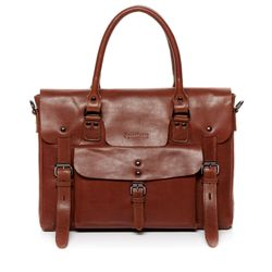 FEYNSINN laptop bag PHOENIX -7AM-R002- business bag VT-ANALIN leather - tan-cognac