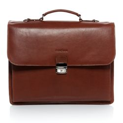 FEYNSINN briefcase EMILIO -1100- business bag VT-ANALIN leather - tan-cognac