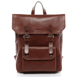 FEYNSINN backpack slim PHOENIX -7AM-R004- daybag VT-ANALIN leather - tan-cognac