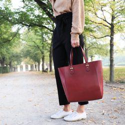 SID & VAIN Shopper TRISH Handtasche groß L Sattelleder Umhängetasche Henkeltasche 5