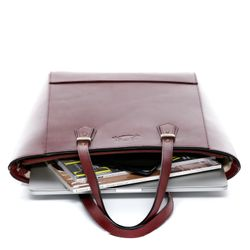 SID & VAIN Shopper TRISH Handtasche groß L Sattelleder Umhängetasche Henkeltasche 3