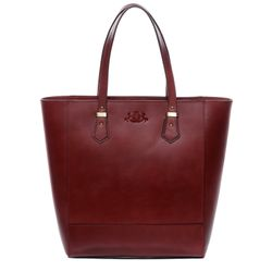 SID & VAIN sac porté épaule TRISH cabas Shopper avec sangle grand en cuir rouge