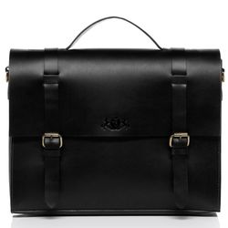 SID & VAIN serviette ordinateur portable cuir noir cartable porte-document attaché-case sac de travail avec sangle