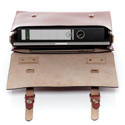 SID & VAIN Aktentasche BOSTON Bürotasche Laptoptasche L Sattelleder Aktentasche Messenger Businesstasche 3