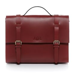SID & VAIN serviette BOSTON mallette sacoche ordinateur sac travail cuir rouge