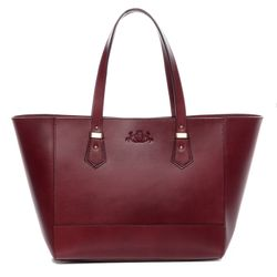 SID & VAIN tote bag & shoulder bag TRISH -918- handbag SADDLE leather - red