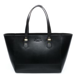 SID & VAIN tote bag & shoulder bag TRISH -918- handbag SADDLE leather - black