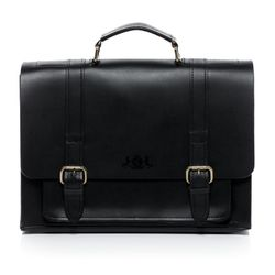 SID & VAIN briefcase BRISTOL -900.15- business bag SADDLE leather - black