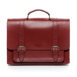 SID & VAIN briefcase BRISTOL -900.15- business bag SADDLE leather - red