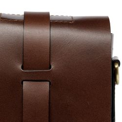 SID & VAIN Aktentasche Boston Ledertasche Businesstasche - Leder Laptoptasche, Medium, braun 3