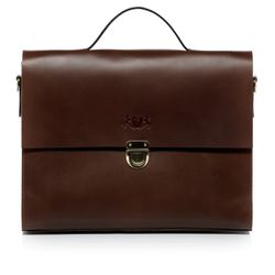SID & VAIN serviette ordinateur portable cuir marron cartable porte-document attaché-case sac de travail avec sangle
