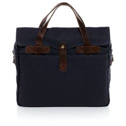 SID & VAIN Laptoptas CHASE Businesstas Leer blauw