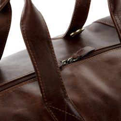 SID & VAIN Reisetasche Natur-Leder braun-cognac Sporttasche groß Reisetasche 7