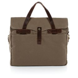 SID & VAIN laptop bag CHASE -1550- business bag CANVAS-PULL-UP leather - sand-brown