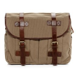 SID & VAIN messenger bag CHASE -1552- shoulder bag CANVAS-PULL-UP leather - sand-brown