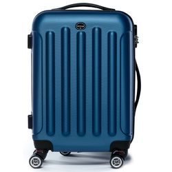 FERGÉ carry-on trolley LYON -XB-02-20- suitcase hard-top case ABS - royal-blue