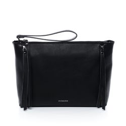 FEYNSINN shoulder bag & clutch JEMMA ZIP -1456- handbag SMOOTH leather - black