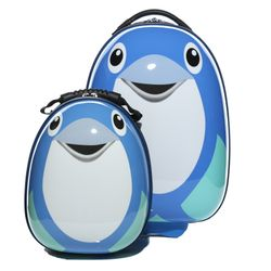 FERGÉ 1x children-trolley and 1x backpack Dolphin -XB-10-01 – Dolphin- children suitcase ABS&PC - Dolphin