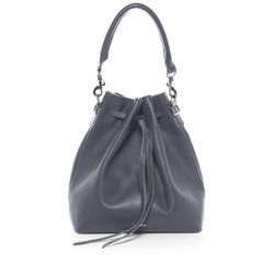 FEYNSINN hobo bag NIK -1233- shoulder bag SMOOTH leather - dark grey