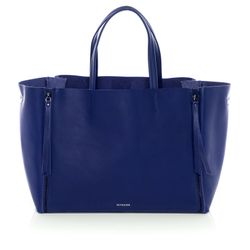 FEYNSINN tote bag & shoulder bag JAX ZIP -1453- handbag SMOOTH leather - indigo
