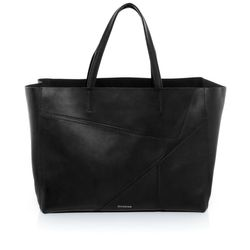 FEYNSINN tote bag & shoulder bag JAX PUZZLE -1454- handbag SMOOTH leather - black