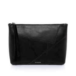 FEYNSINN Clutch JEMMA PUZZLE Premium Smooth schwarz Abendtasche Clutch mit langem Schultergurt 2