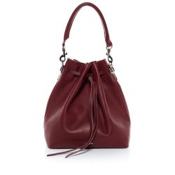 FEYNSINN hobo bag NIK -1233- shoulder bag SMOOTH leather - marsala