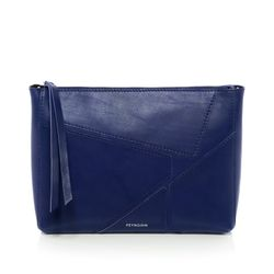 FEYNSINN shoulder bag & clutch JEMMA PUZZLE -1457- handbag SMOOTH leather - indigo