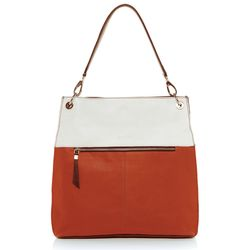 BACCINI shoulder bag CAPRI -K-7220- handbag BM-Nappa leather - black-white-orange
