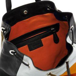 BACCINI Stadt-Rucksack NAPOLI Soft Leder schwarz-orange Backpack Tagesrucksack Stadtrucksack Rucksack 3