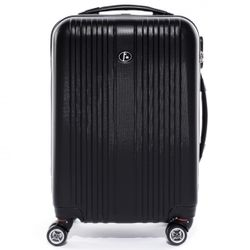 FERGÉ carry-on trolley TOULOUSE -XB-07-20- suitcase hard-top case ABS - black