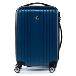 FERGÉ carry-on trolley TOULOUSE -XB-07-20- suitcase hard-top case ABS - royal-blue