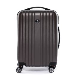 FERGÉ carry-on trolley TOULOUSE -XB-07-20- suitcase hard-top case ABS - coffee