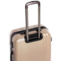 FERGÉ Bordgepäck-Koffer leicht ABS Dure-Flex champagner Reisekoffer Kabinentrolley 4 Zwillingsrollen (360°) Handgepäck-Koffer 2