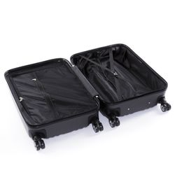 FERGÉ Bordgepäck-Koffer leicht ABS Dure-Flex champagner Reisekoffer Kabinentrolley 4 Zwillingsrollen (360°) Handgepäck-Koffer 6