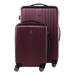 FERGÉ two luggage set TOULOUSE -XB-07-20-24- 2 suitcase hard-top cases ABS - burgundy