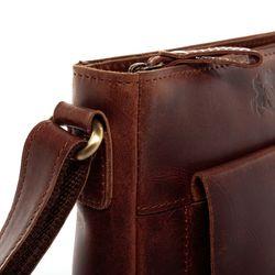 SID & VAIN Schultertasche YALE Natur-Leder braun-cognac Handtasche Schultergurt Schultertasche 3