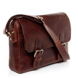 SID & VAIN Messenger bag YALE Natur-Leder braun-cognac Laptoptasche Messenger bag 2