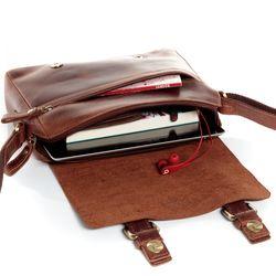 SID & VAIN Messenger bag YALE Natur-Leder braun-cognac Laptoptasche Messenger bag 4