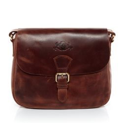 SID & VAIN shoulder bag YALE -1706- handbag PULL-UP leather - brown-cognac