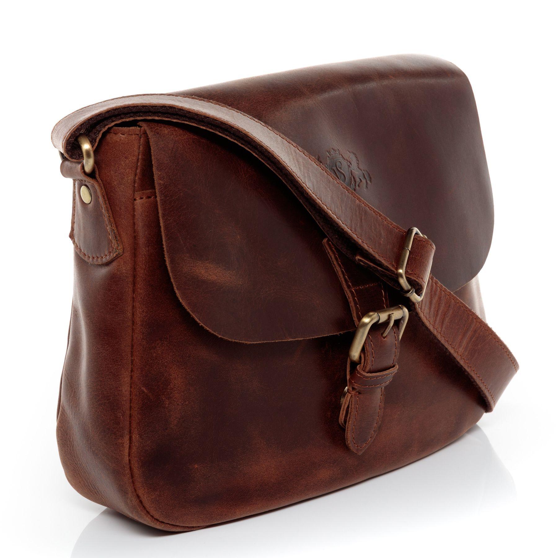 54571da5d0 SID & VAIN shoulder bag & cross-body bag Natural Leather ABERDEEN ...