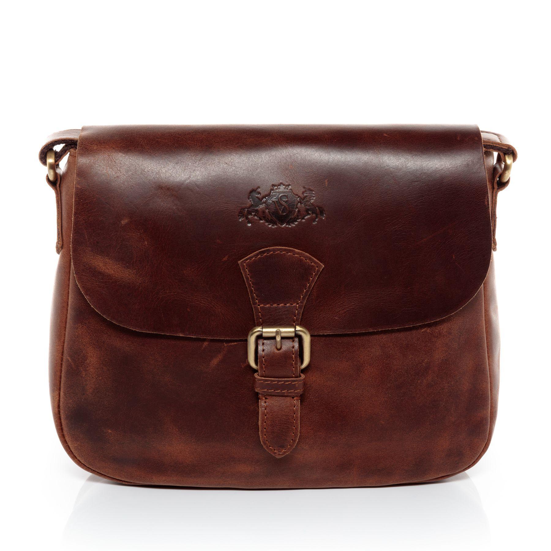 017c8e19cb46a SID   VAIN Schultertasche Natur-Leder YALE braun-cognac Handtasche  Schultergurt Schultertasche Taschen Damentaschen