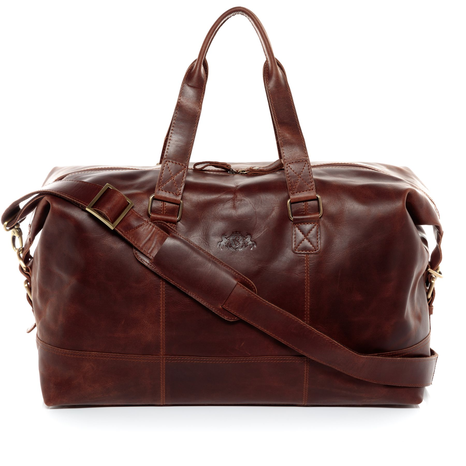 9aa538a6ea SID & VAIN sac de voyage cuir marron fourre-tout besace week-end sac sport  bagages cabine à main Sacs de voyage Sacs de sport
