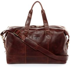 SID & VAIN travel bag YALE -1709- weekender PULL-UP leather - brown-cognac