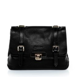 BACCINI cross-body bag PINA -K-6767- leather bag with shoulder strap VT-Milled leather - black
