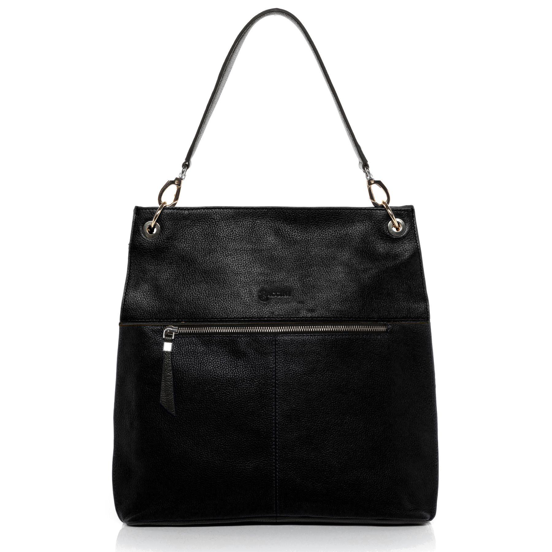 b36d319df6 SID   VAIN Shoulder bag   Cross-body bag Smooth Leather YANN black Tote bag  handbag Top-handle bag New