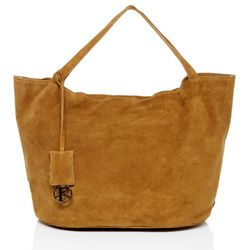 BACCINI tote bag & shoulder bag SELMA -1603- handbag SUEDE leather - light-tan