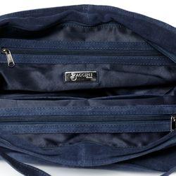 BACCINI Handtasche mit langen Henkeln SELMA Schultertasche L Wildleder Reise-Henkeltasche 3